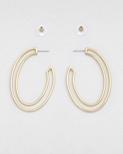PAPI OVAL EARRINGS- gold