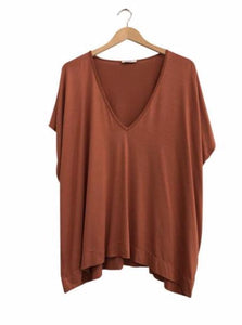 BAMBOO PONCHO TOP - copper
