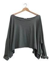 ORGANIC COTTON OVERSIZED TOP - thyme