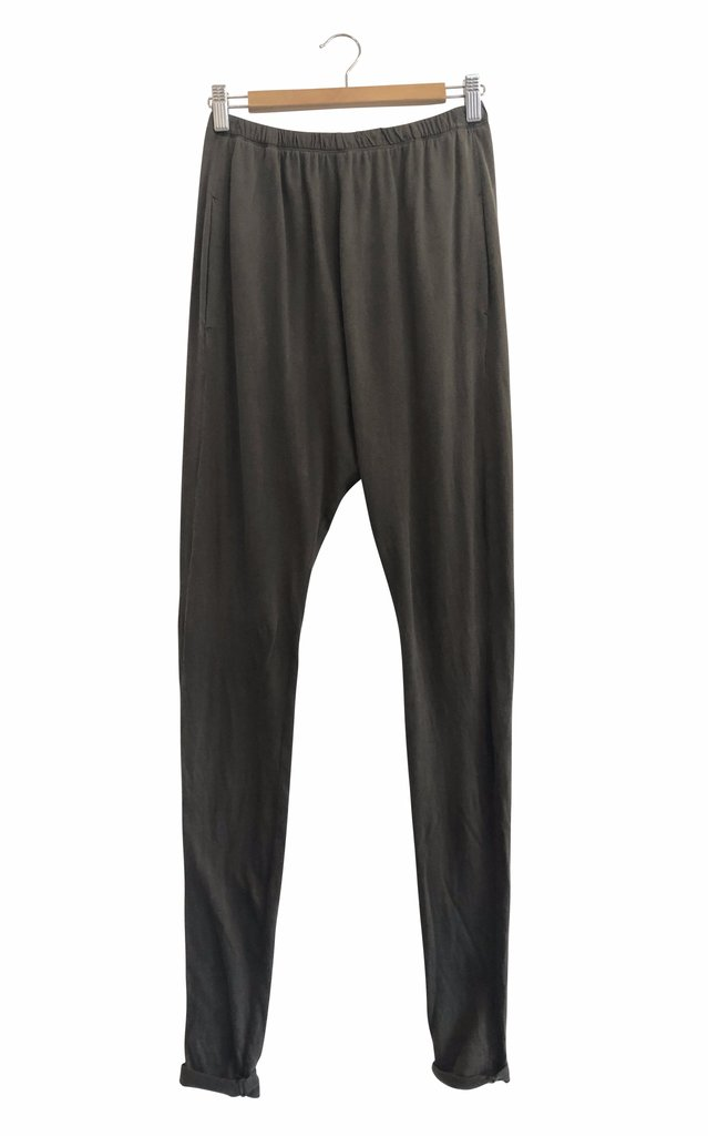 ORGANIC COTTON LOUNGE PANTS - deep olive