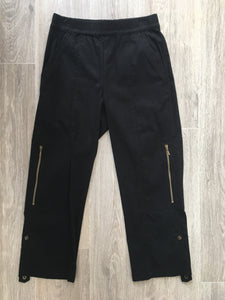 CROPPED ZIP CARGO - black