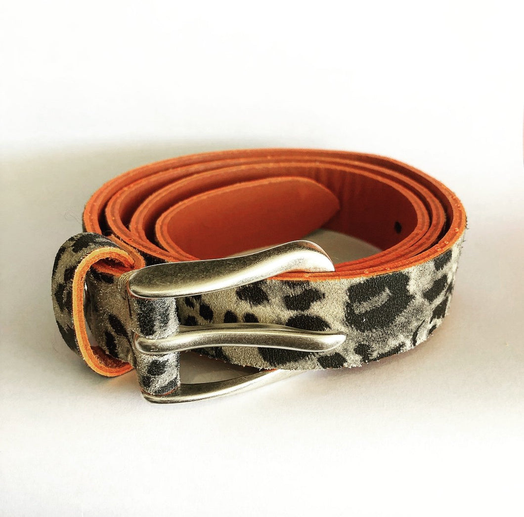 CARA LEATHER BELT 30MM - leopard