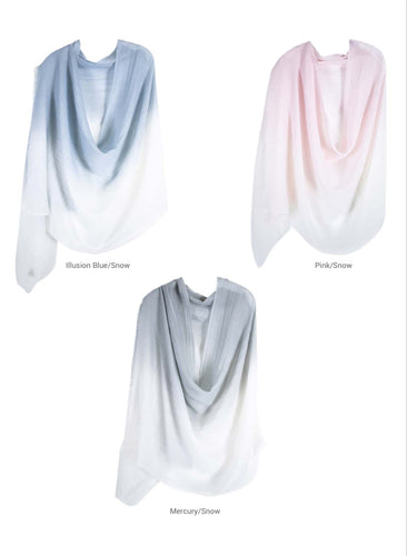 PURE WOOL OMBRE WRAP - 2 COLOURS