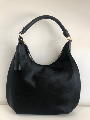 LEATHER & HIDE HOBO BAG
