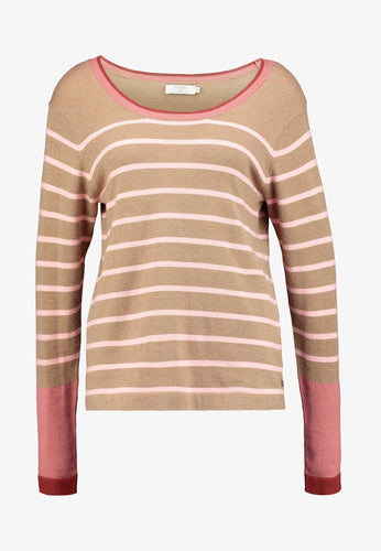 LORENZO STRIPED CREW NECK SWEATER