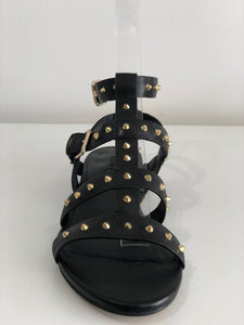 LEATHER AND STUD SHOE