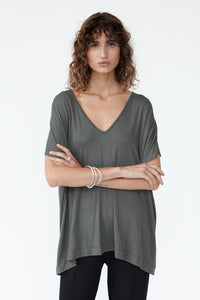 BAMBOO PONCHO TOP - olive