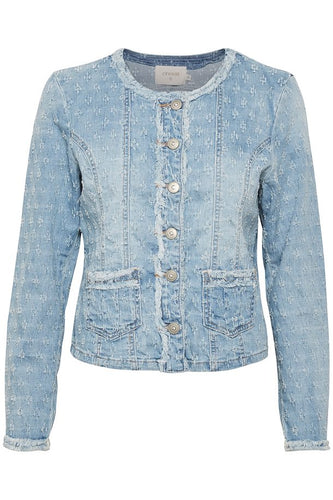 ROBINA DENIM JACKET - blue