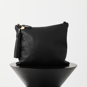 JEM LEATHER CROC CLUTCH