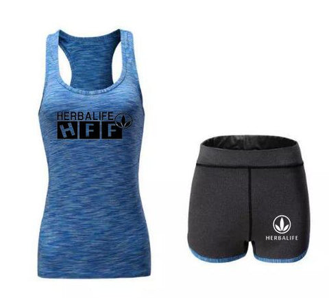 Herbalife HFF Sleeveless T-shirt and Shorts for Women