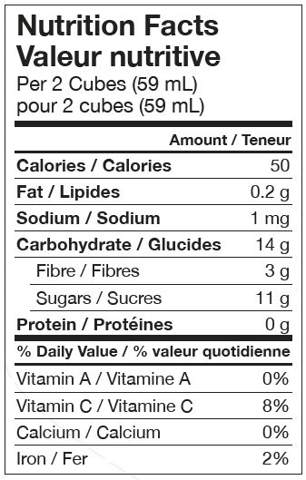 Apple and cinnamon nutrition information