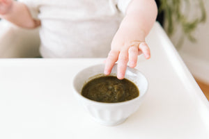 Pear and spinach baby food