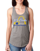 "Ladies ""2019 Cup Champs"" Racerback Tank - Warm Gray"