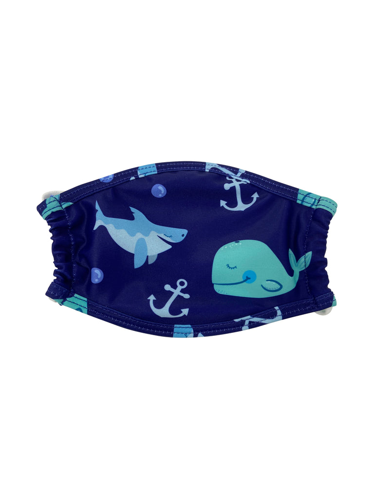 Kids Face Mask - Blue Whale