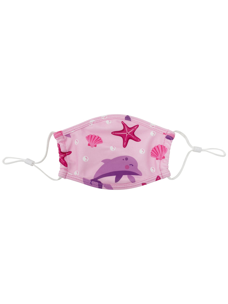 Kids Face Mask - Pink Dolphin