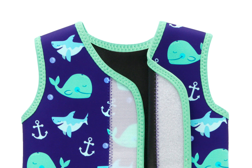 Swimbubs Baby Wrap Wetsuit In Blue Whale