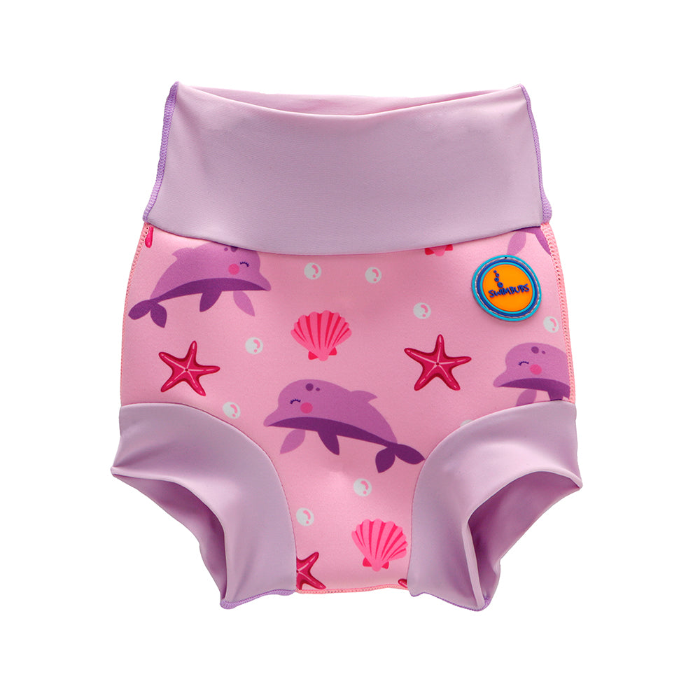 Cute Swim Nappy For Kids In Pink Dolphin