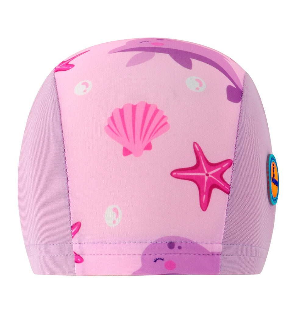 Cute Pink Dolphin Swimming Cap For Kids