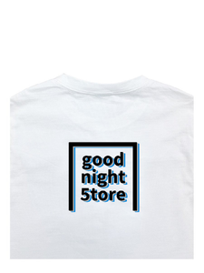 GN049 t-shirt logo-blue black-mens