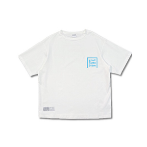 GN043 t-shirt logo-neon blue-mens
