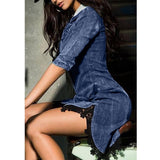 Chiffon Shirt Button-down Denim shirt