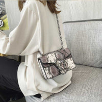 Shoulder Bag Snake Bag PU Leather Handbag