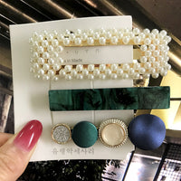 Elegant Pearls Hair Clips Ornament