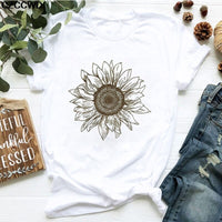 Bouquet Print Short Sleeve T-Shirt