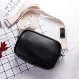 Leather Crossbody Bag Letter Flap bag