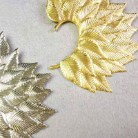 Big Leaf Earring Cuff Non Piercing