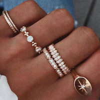 Crystal Pave  Knuckle Finger Rings women wedding band Ring Bijoux