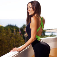 Backless One-piece Fitness Overall