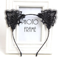 Cat Ears Head Bezel Lace Lady hairband