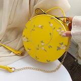 Lace Floral Round Crossbody Messenger Mini Clutch Bags