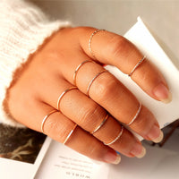 Midi Round Twist Weave 10 pcs/ ring set