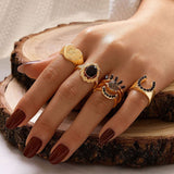 Chain Midi Ring Set