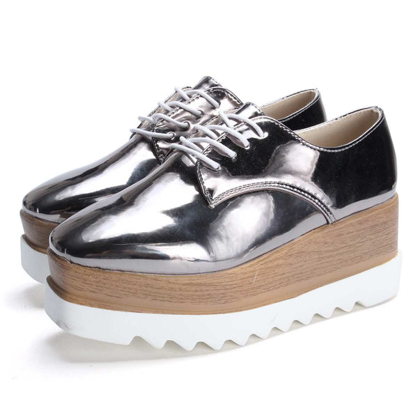 Brogues Creepers Oxfords Patent Leather Platform Shoes
