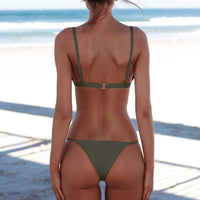 Push Up Thong Bandage Bikini Set