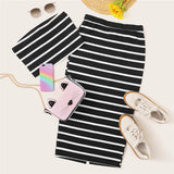 STRIPES TOP AND MIDI SKIRT