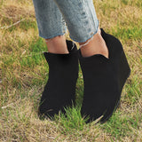 Ankle Wedge Booties