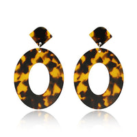 Big Statement Earrings Resin Oval Square
