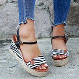 lip toe flat Roman zipper lady sandal