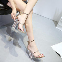 Transparent Heels Ankle High Heels
