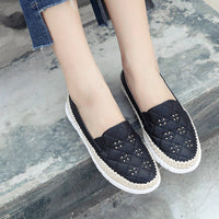 Leather Loafers Fashion Ballet Flats Moccasins