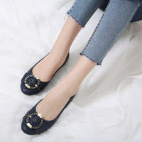 Slip On Shallow Loafers Embroidery Thread Flat
