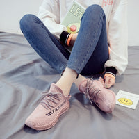 Breathable Walking Mesh Flat Shoes Sneakers