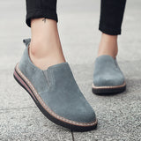 slip-on sneakers genuine leather flats oxfords