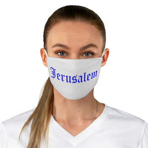 JERUSALEM OLD ENGLISH FACE MASK BLUE