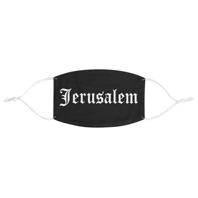 JERUSALEM OLD ENGLISH FACE MASK WHITE