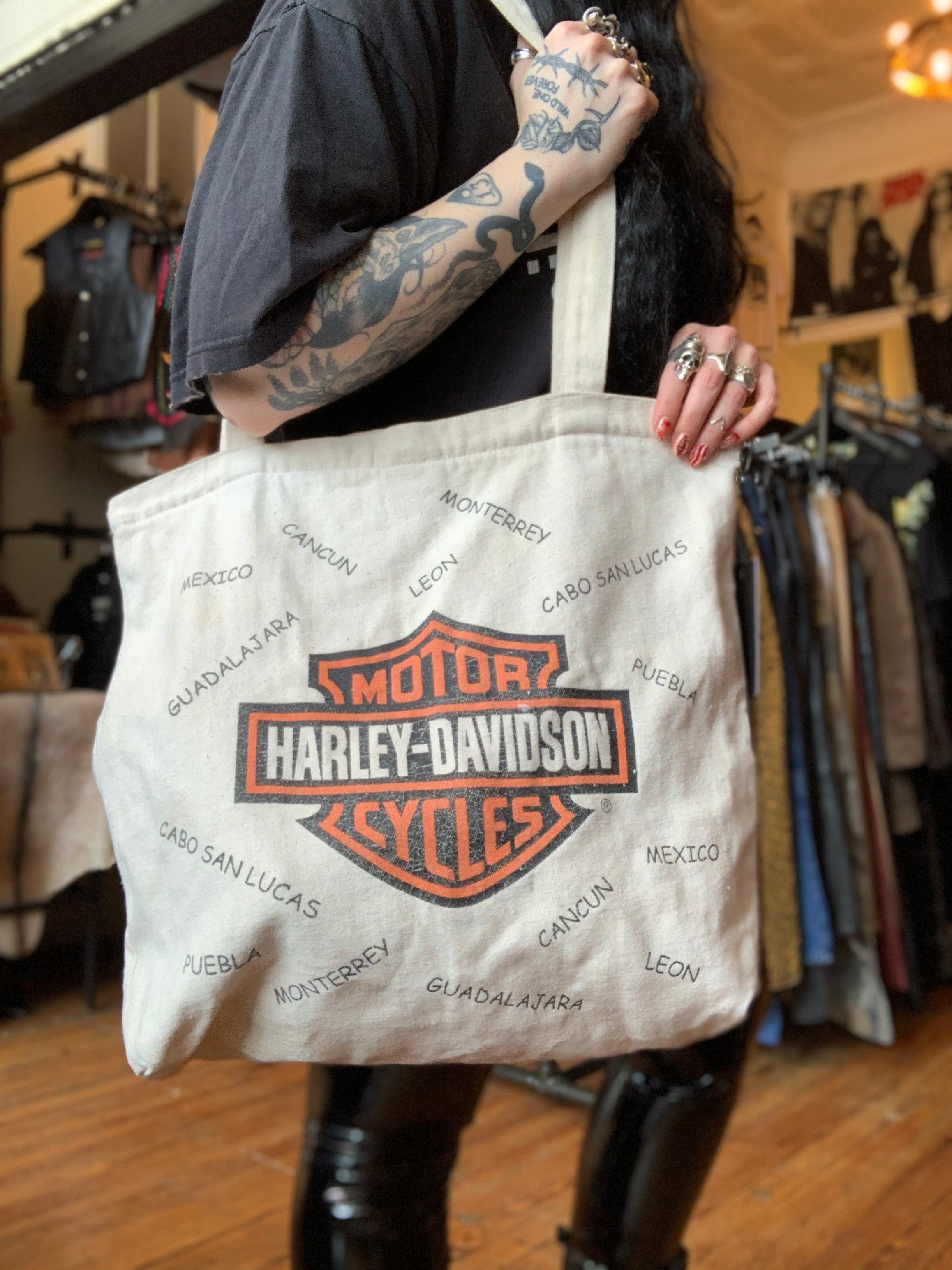 2001 Harley-Davidson Canvas Tote Bag